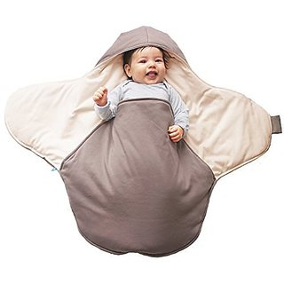 Wallaboo Baby Blanket Coco, Classic Soft 100% Cotton, Multi-Use, Taupe
