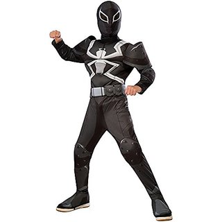 Rubies Costume Spider-Man Ultimate Deluxe Child Agent Venom Deluxe Costume, Small