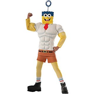 Rubies Costume SpongeBob Movie Muscle Chest Child Costume, Small