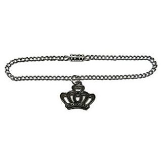 Glamerup: Crown (Antique Silver) Doll Necklace Handmade To Fit Most 18 Inch Dolls