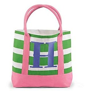 Mud Pie Juco Initial Tote, H