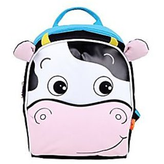Yodo Playful Kids Lunch Backpack and Boxes Carry Bag , Insulated Lining, with Safety Harness, Blue C