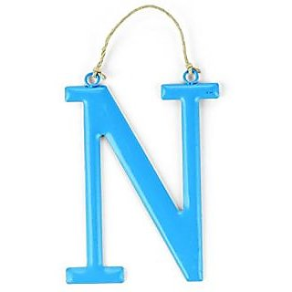 Mud Pie Tin Initial Wall Hanging for Boy, N, Large