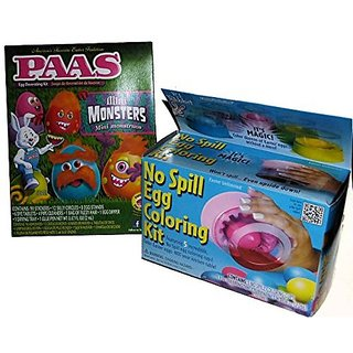 Buy Mini Monsters Egg Decorating Dye Kit with No Spill Egg Coloring ...