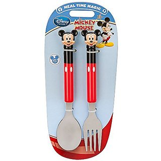 Mickey Mouse Flatware Fork and Spoon Set