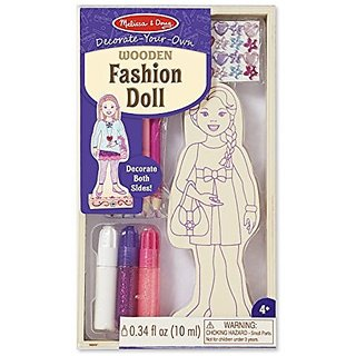 Melissa & Doug DYO Wooden Fashion Doll