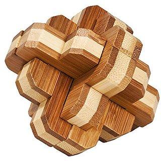 "Fridolin Bamboo IQ-Test Puzzle, ""Round Knot"""