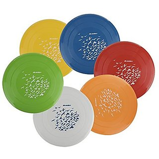 Wealers 8.7 Inch Frisbee Disk Pack of 6 (Colors May Vary)