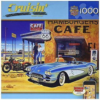Masterpieces Route 66 Cafe Cruisin Jigsaw Puzzle (1000-Piece)