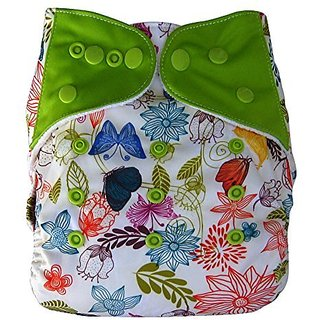 Charcoal Bamboo Cloth Pocket Diaper with Insert, Spring