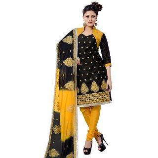 Triveni Wonderful Embroidered Cotton Salwar Kameez (Unstitched)