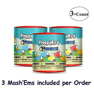 Flappy Birds MashEms (choices may vary) Blind Pack Capsule - 3 Pack (3 Mashems Capsules per order)