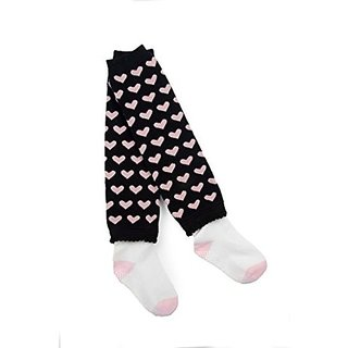 Otium Toddler Black With Pink Hearts Cozee Toes