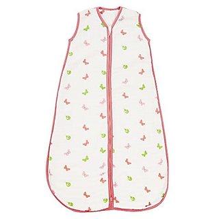 Baby Muslin Summer Sleeping Bag approx. 0.5 Tog - Butterfly - 6-18 months/35inch