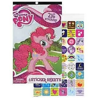 My Little Pony Sticker Pad 216 Stickers 8 Retail Unit(S) Pack Mlp0414 F16 L02