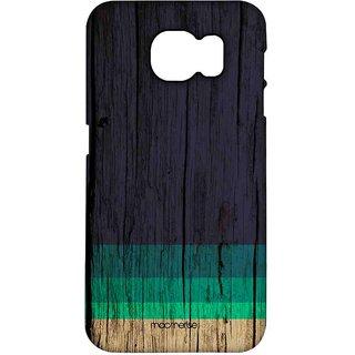 Wood Stripes Blue - Pro Case For Samsung S7
