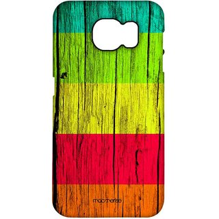 Wood Stripes Ensemble - Pro Case For Samsung S7