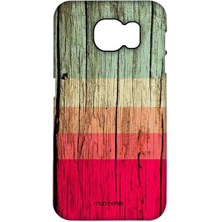 Wood Stripes Fuschia - Pro Case For Samsung S7