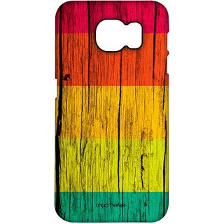 Wood Stripes Neon - Pro Case For Samsung S7
