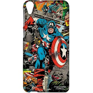 Comic Captain America - Sublime Case For HTC Desire 820