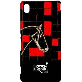 Masaba Red Checkered Horse - Sublime Case For Sony Xperia M4 Aqua