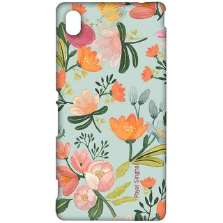 Payal Singhal Aqua Handpainted Flower - Sublime Case For Sony Xperia M4 Aqua