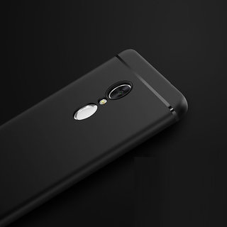 Redmi Note 3 Back Cover Rubberised Slim Soft Silicone Back Cover Black