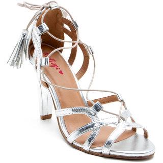 Red Tape Women's Silver Heels