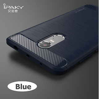 Redmi Note 3 Back Cover Brushed TPU Carbon Fibre Back Cover Case Black