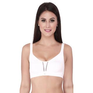 4fb8f33904e05 Buy Soie Women s White Plain Bra Online   ₹440 from ShopClues