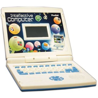 Prasid English Learner Kids Laptop Notebook Gift Toy Intellective Computer Blue