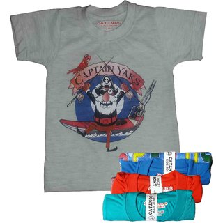 Pack of 3 Different printed t-shirts for kids