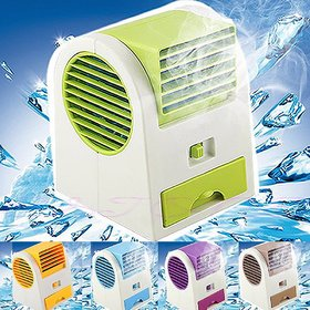 Small Conditioner Fan Cooling Portable Desktop Dual Bladeless