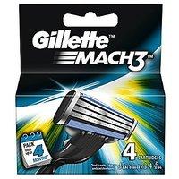 Gillette Mach3 Blades - 4 Cartridges