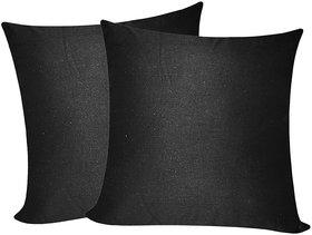 Plain Black Cushion Covers 40x40 Cms (2 pcs set)