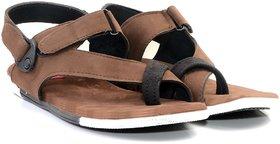 Floxtar men's brown synthetic sandal