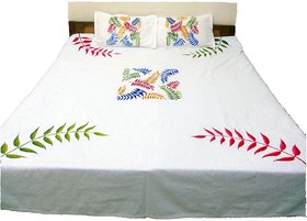 Innovative Hand painted extra large premium cotton double bed sheets