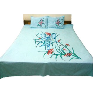 Wonderful Innovative Hand Painted Extra Large Premium Cotton Double Bed Sheets