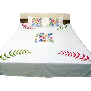 Great Innovative Hand Painted Extra Large Premium Cotton Double Bed Sheets