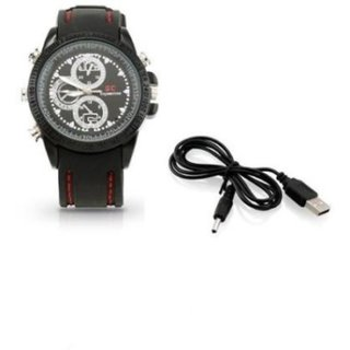 Onsgroup Spy Camera Leather Wrist Watch with Audio Video Recording BEST PRICE GUARANTEE  PREMIUM QUALITY  FAST SHIPPING