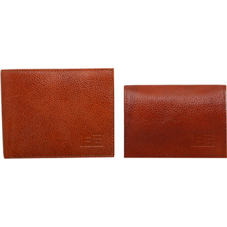 BE Genuine Leather Card holder or Wallet - Brown