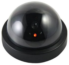 Security CCTV Dome Camera With Flashing Red Led Light