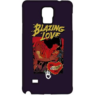 KR Blazing Love Purple - Sublime Case For Samsung Note 4