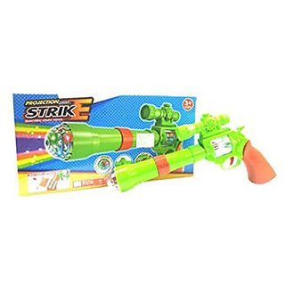 DDH deals Projection Musical Strike Electric Toy Gun For Kids(Multicolor)