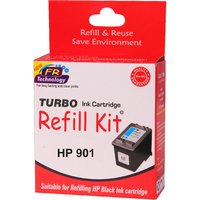 Turbo ink refill kit for HP 901 Black ink cartridge