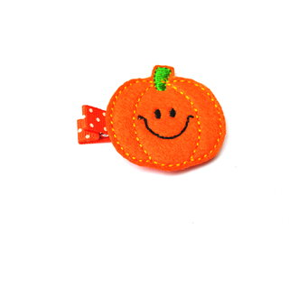 Lil' Miss pumpkin hairclip