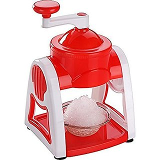 Your Choice Manual Red / White Gola Maker Slush Maker for crushed ice indian dessert BPA Free food grade plastic