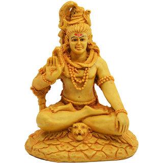 Shiva 7.5 Gold Idol for pooja ghar, showpice  for gifting