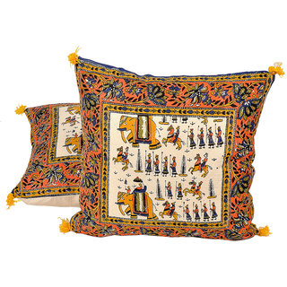 Sanganeri Handblock Printed Cushion Cover Pair 842 CUS842