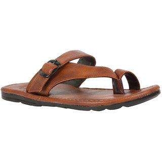 STYLE HEIGHT Men's Brown Slip on Sandals